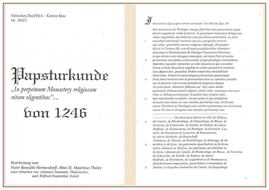 Urkunde Übersetzung Seite 1