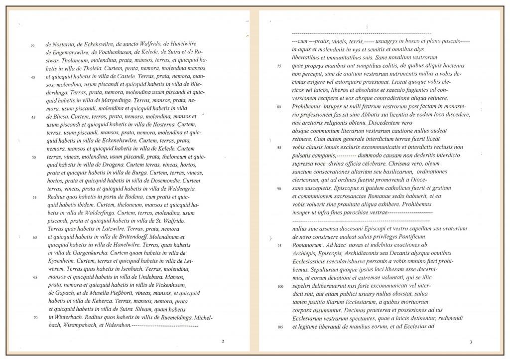 Urkunde Übersetzung Seite 2 und 3