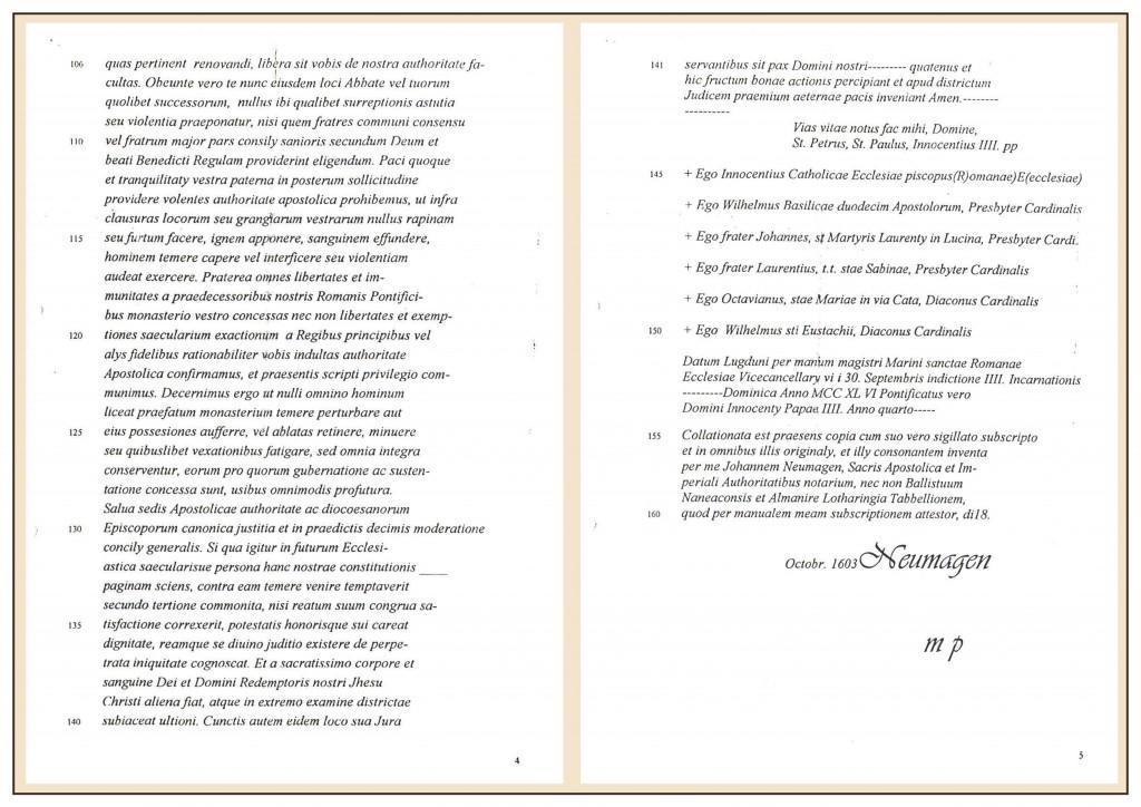 Urkunde Übersetzung Seite 4 und 5