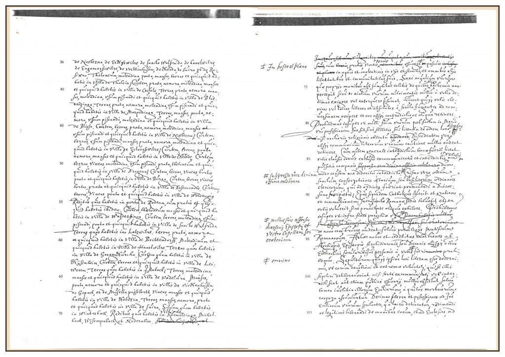 Urkunde Seite 2 und 3