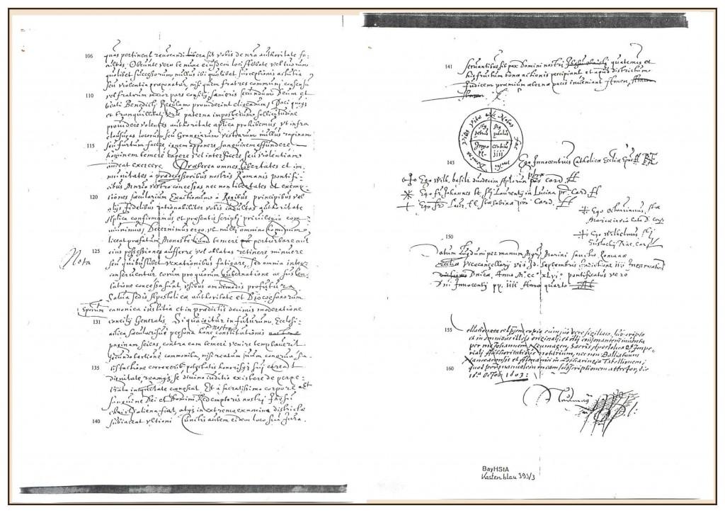 Urkunde Seite 4 und 5