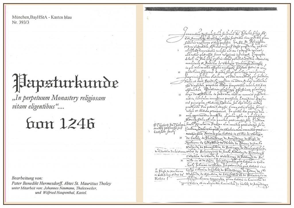 Urkunde Seite 1