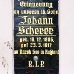Überroth-Niederhofen - Kreuz Nr 6 - Inschrift