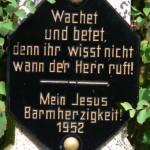 Lindscheid - Kreuz Nr 14 Inschrift 1952